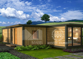 Quick Install Modern Prefab Homes 3 Bedrooms Type Sandwich Wall Panel Structure